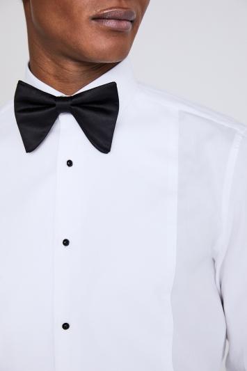 Moss 1851 Tailored Fit White Marcella Regular Collar Dress Shirt