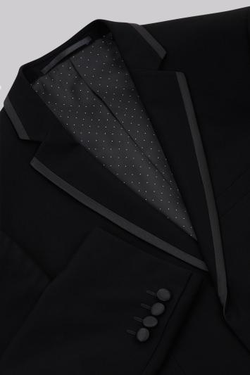 Moss 1851 Tailored Fit Black Notch Lapel Tuxedo Jacket