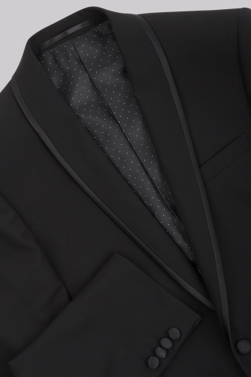 Moss 1851 Tailored Fit Black Shawl Lapel Dinner Suit Jacket
