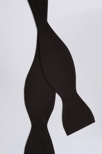 Moss 1851 Black Silk Self-Tie Bow Tie