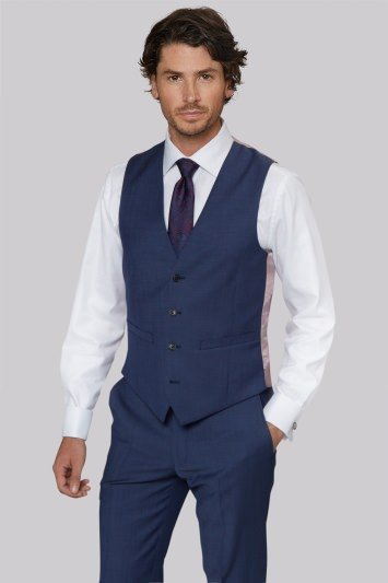 Moss 1851 Tailored Fit Chambray Blue Jacket