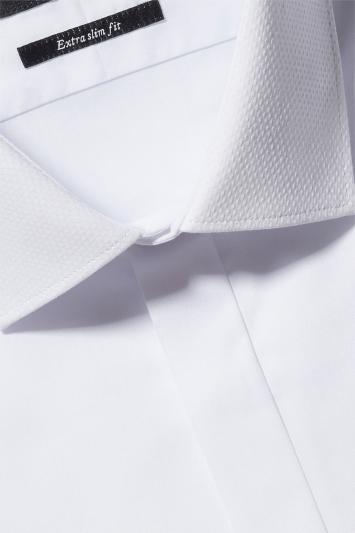 Extra Slim Fit White Dobby Dress Shirt