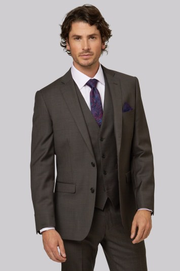 Moss 1851 Tailored Fit Brown Jacket