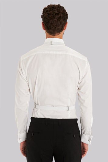 Moss 1851 Tailored Fit White Marcella Waistcoat