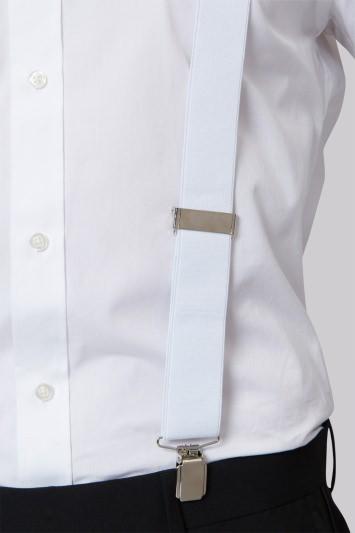 Moss 1851 White Clip-On Braces