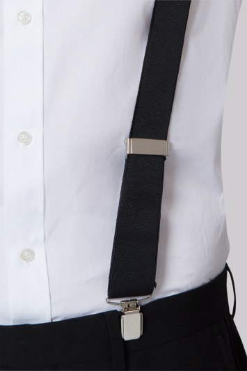 Moss 1851 Black Clip-On Braces