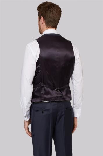 Ermenegildo Zegna Cloth Regular Fit Plain Blue Waistcoat