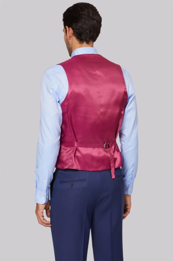 Savoy Taylors Guild Blue Birdseye Waistcoat