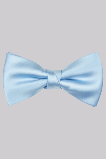 Moss 1851 Sky Blue Bow Tie
