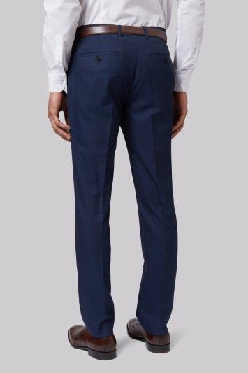 Moss London Skinny Fit Blue Sharkskin Trousers
