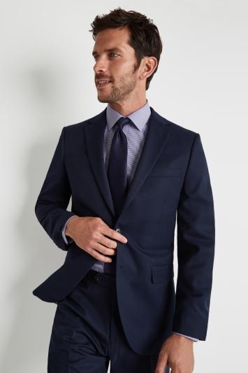 Moss Esq. Regular Fit Blue Twill Jacket