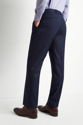 Moss Esq. Regular Fit Blue Twill Suit Trousers