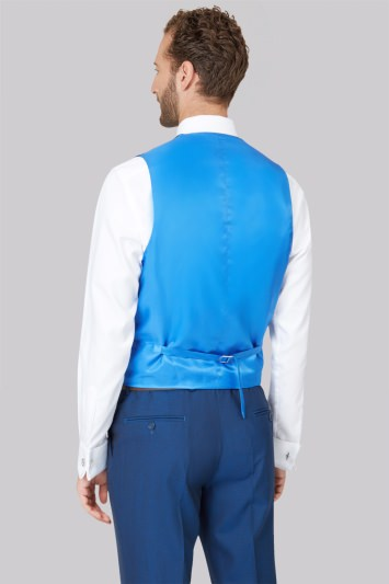 Ted Baker Tailored Fit Teal Mohair Look Waistcoat