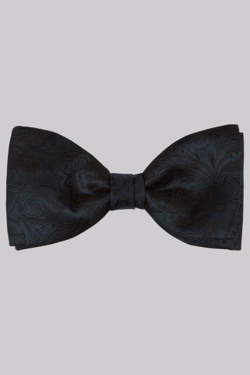 Moss 1851 Navy Floral Silk Bow Tie