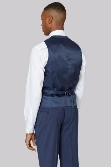 DKNY Slim Fit Blue Marl Waistcoat