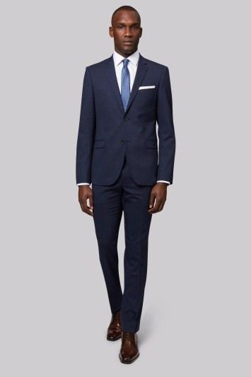 DKNY Slim Fit Navy Semi Plain Jacket