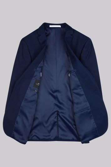 Moss London Skinny Fit Blue Twill Jacket