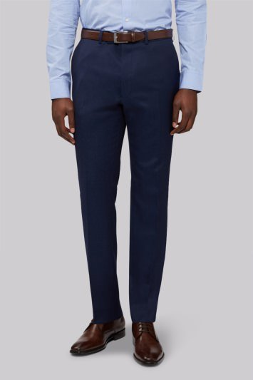 French Connection Slim Fit Bright Blue Milled Trouser
