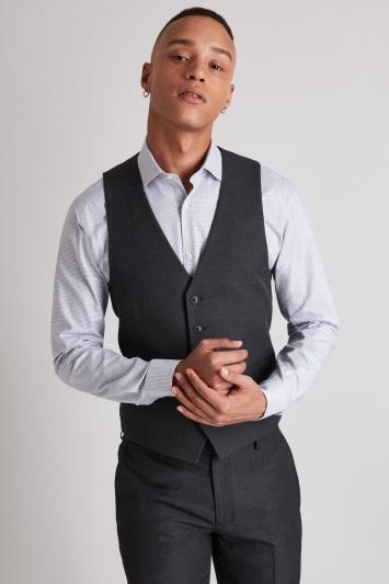 Moss London Skinny Fit Charcoal Waistcoat