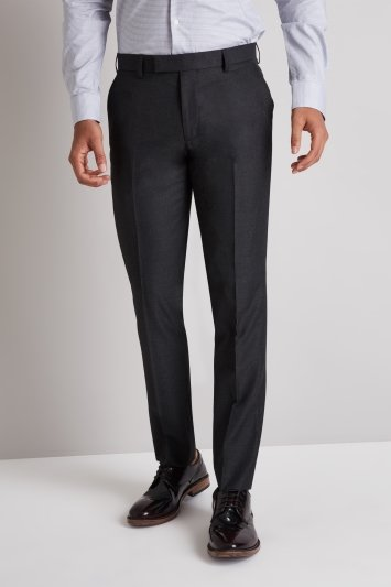 Moss London Skinny Fit Charcoal Trousers