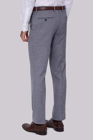 Moss 1851 Tailored Fit Light Blue Sharkskin Trousers