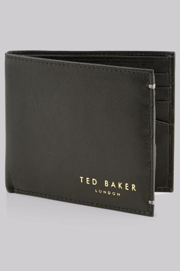 Ted Baker Black Bifold Leather Wallet