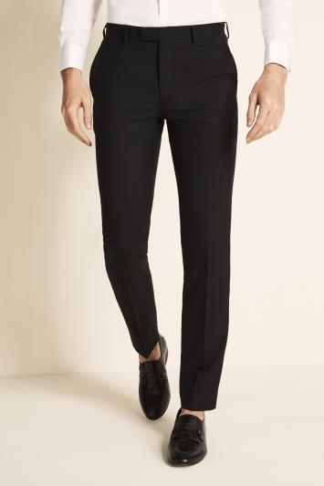 DKNY Slim Fit Black Dress Trousers