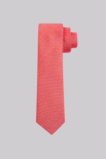Moss London Coral Spot Skinny Tie