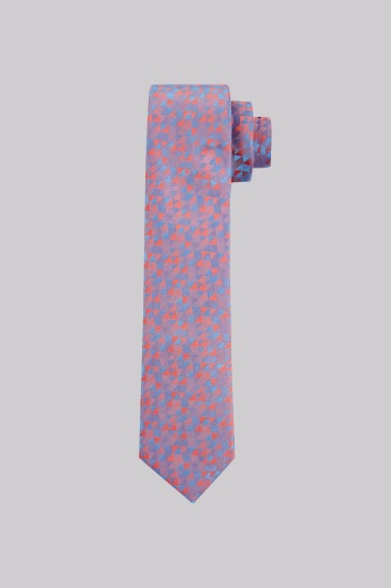 Moss London Coral Triangle Skinny Tie