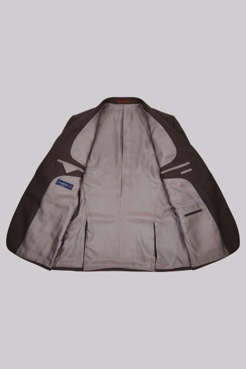 Ermenegildo Zegna Cloth Regular Fit Brown Sharkskin Jacket