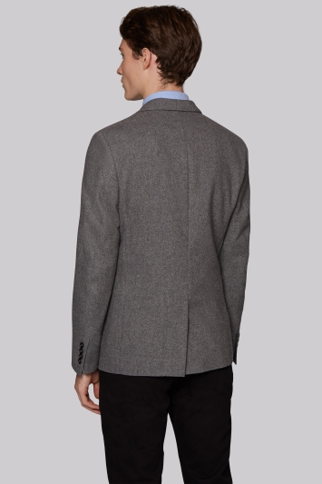Moss London Slim Fit Light Grey Hopsack Jacket