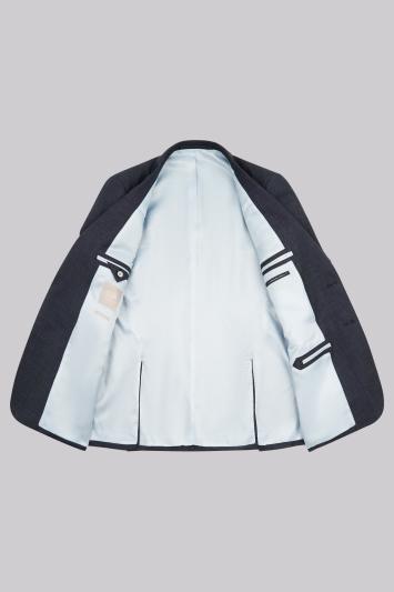 Savoy Taylors Guild Regular Fit Airforce Birdseye Jacket