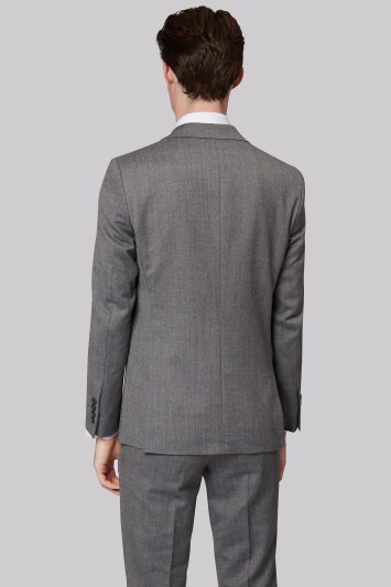 Moss London Skinny Fit Black and White Donegal Jacket