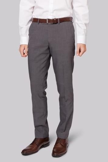 Moss London Skinny Fit Grey Tonic City Trousers