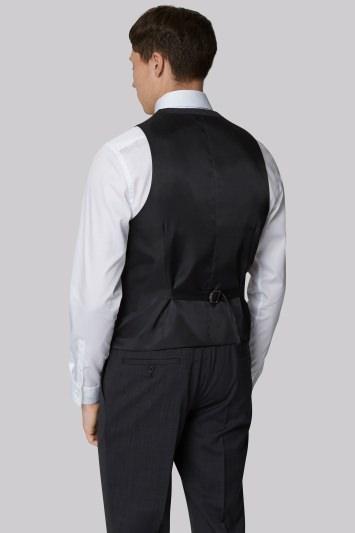 DKNY Slim Fit Charcoal Pindot Waistcoat