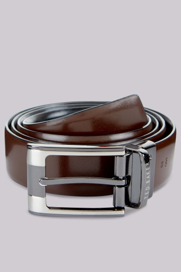 Ted Baker Black Reversible Leather Belt