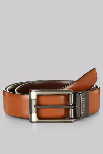 Crafti Tan/Brown Reversible Leather Belt