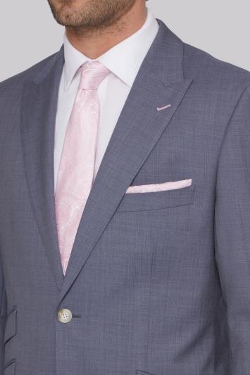 Moss Bros Regular Fit Blue Grey Suit