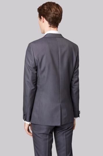 Moss London Skinny Fit Grey Tuxedo Jacket