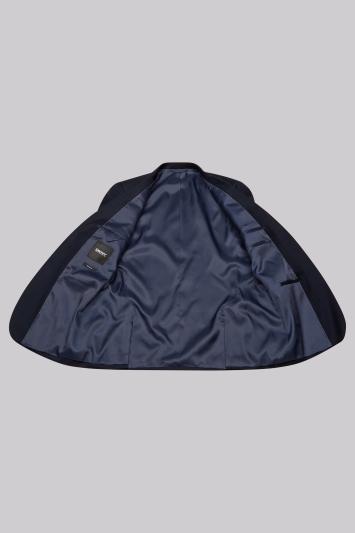 DKNY Slim Fit Navy Birdseye Jacket