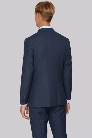 Hardy Amies Tailored Fit Indigo Semi Plain Jacket