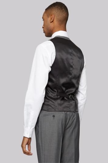 DKNY Slim Fit Grey Twill Waistcoat