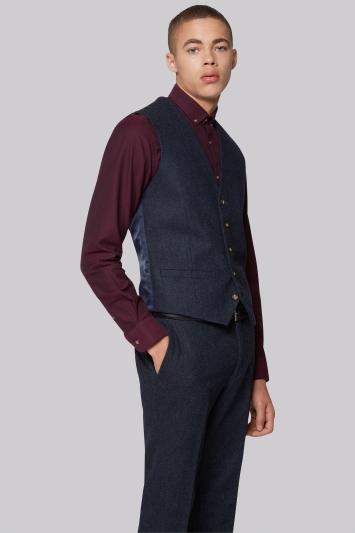 Moss London Blue Donegal Waistcoat