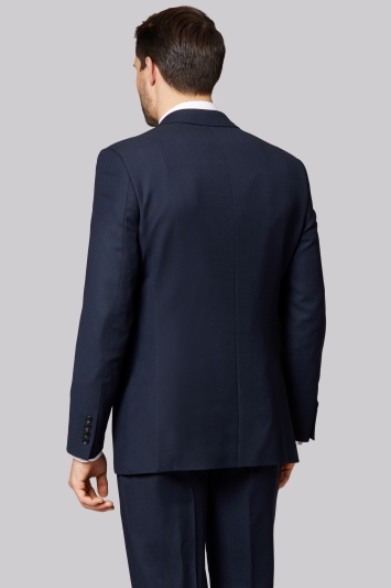 Savoy Taylors Guild Regular Fit Navy Birdseye Jacket