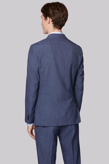 Moss London Skinny Fit Blue Speckled Jacket