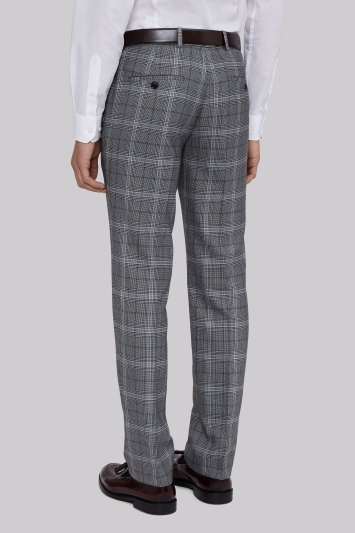 Moss London Skinny Fit Grey Bold Prince Of Wales CheckTrousers