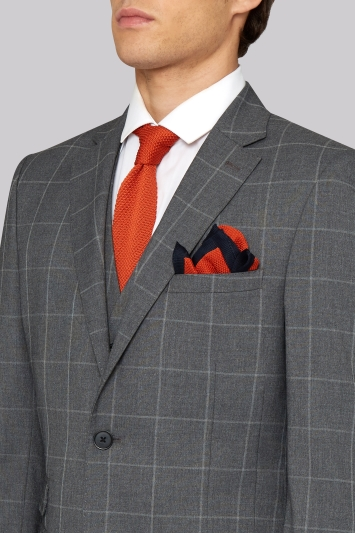 Moss London Skinny Fit Grey Check Jacket