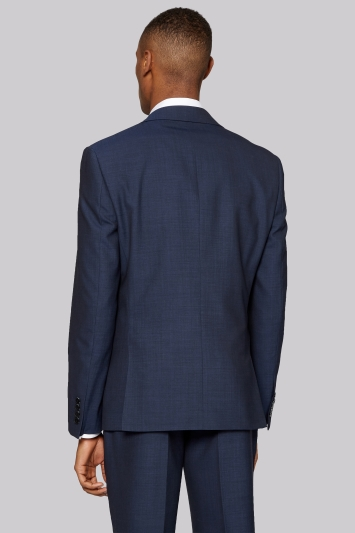 DKNY Slim Fit Indigo Mohair Look Jacket