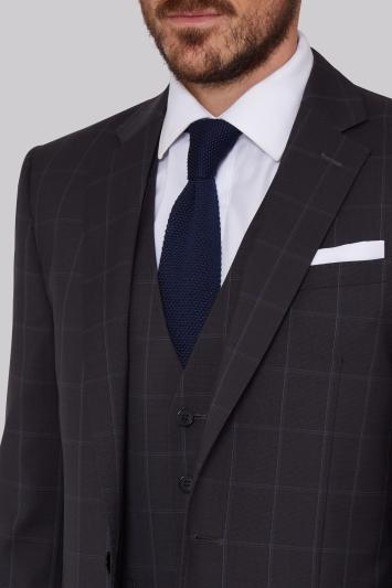 Lanificio F.lli Cerruti Dal 1881 Cloth Tailored Fit Dark Grey Check Jacket