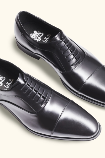 John White Guildhall Black Oxford Shoe